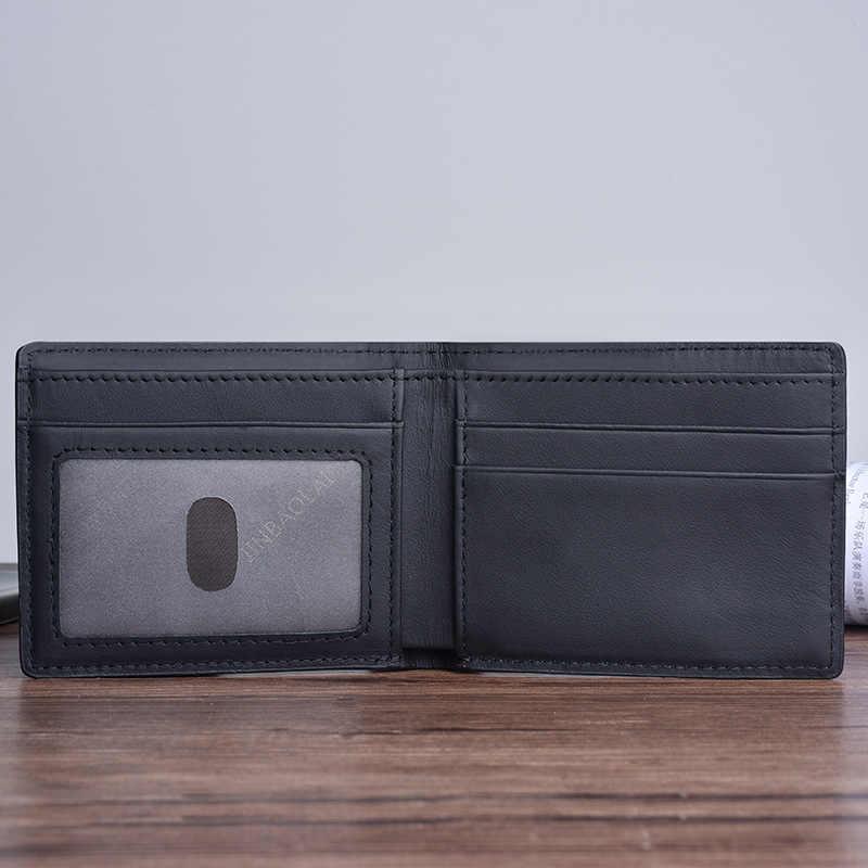 2019 Новый Portefeuille Homme мужские кошельки из натуральной кожи кожаный тонкий кошелек с противоугонной RFID блокировкой кредитной Кошелек для монет, карт