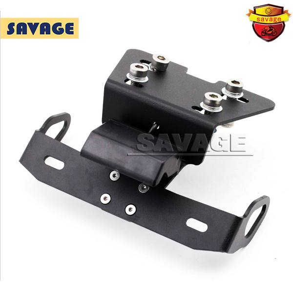 For YAMAHA XJ6 /DIVERSION /F FZ-6R FZ6R Motorcycle Fender Eliminator Registration Plate Bracket License Plate Holder LED Light red cnc motorcycle accessories rear fender eliminator license plate bolts screws for yamaha fz1 fazer fjr 1300 xj6 diversion
