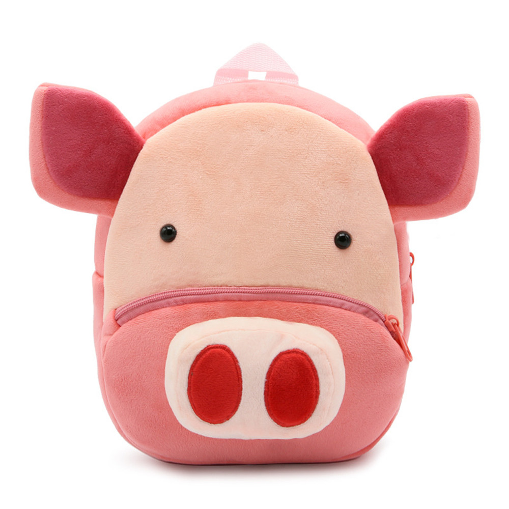 Zshop Zoo Animal Pig Schoolbag 2 Year Old Kids Bookbag for Children Backpack