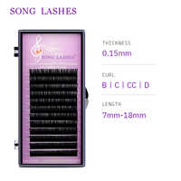 4aef45f4a9d Matte Light Flat Eyelash Extensions Individual Mink Softer Ellipse ...