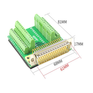 Image 5 - Pure Copper DB50 Free Soldering 50Pin Connector Without Soldering Male Female Adapter Plate Terminal Block
