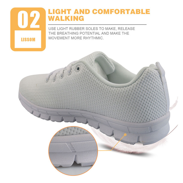 INSTANTARTS Spring Nurse Flat Shoes Women Cute Cartoon Nurses Printed Women's Sneakers Shoes Breathable Mesh Flats Female Shoes 2