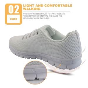 Image 3 - INSTANTARTS Zapatos planos con dibujos animados para Mujer, zapatillas con estampado de enfermera, de malla transpirable, para primavera