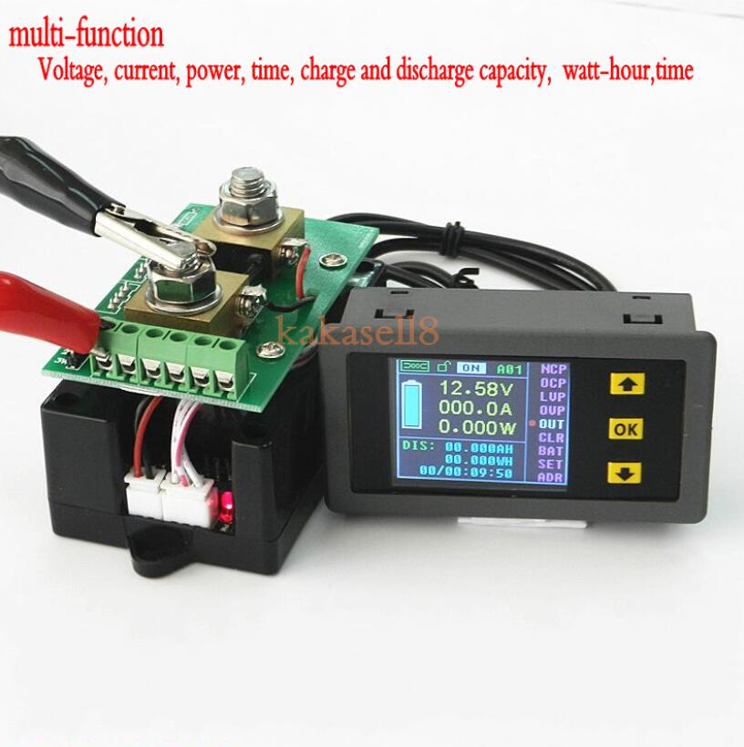 DC 120v 200A LCD Combo Meter Wireless Voltage current KWh Watt Meter 12v 24v 48v Battery aliexpress com buy dc 120v 200a lcd combo meter wireless voltage 48v battery meter wiring diagram at cos-gaming.co
