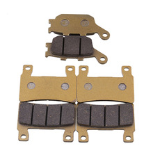 6 Pieces Front And Rear Disc Brakes Motorcycle Parts High Temperature Brake Pad Groove For CBR 600 F4 F4i Motorcycle Accessories starpad for xinyuan accessories x2x front disc brakes front and rear sheet for xinyuan x2 x2 x2x brakes 4