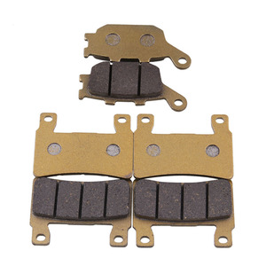 Image 1 - 6 Pieces Front And Rear Disc Brakes Motorcycle Parts High Temperature Brake Pad Groove For CBR 600 F4 F4i Motorcycle Accessories