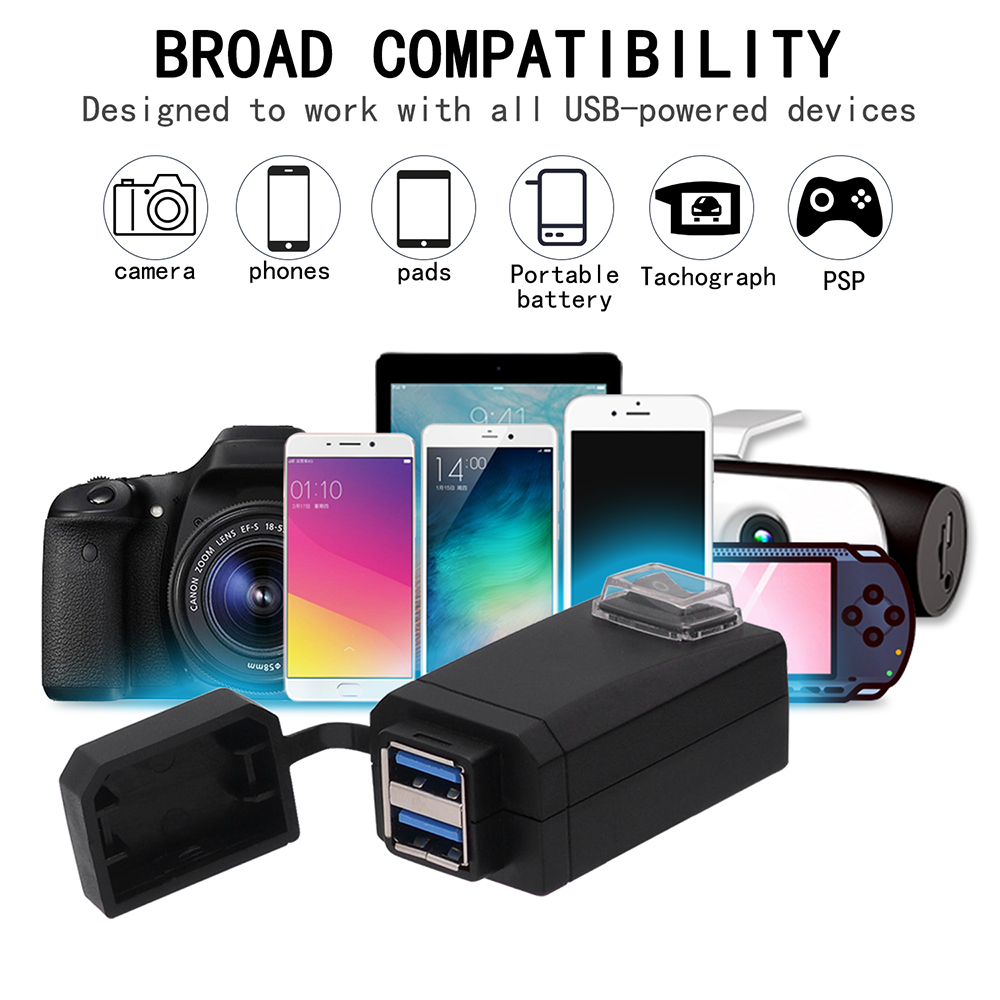 2019 Universal USB Motorcycle Charger IPHONE 4