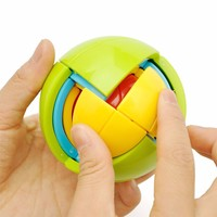 Children Toy DIY 3D Magic Intellect Puzzle Maze Wisdom Ball Brain Teaser Game Educations For IQ