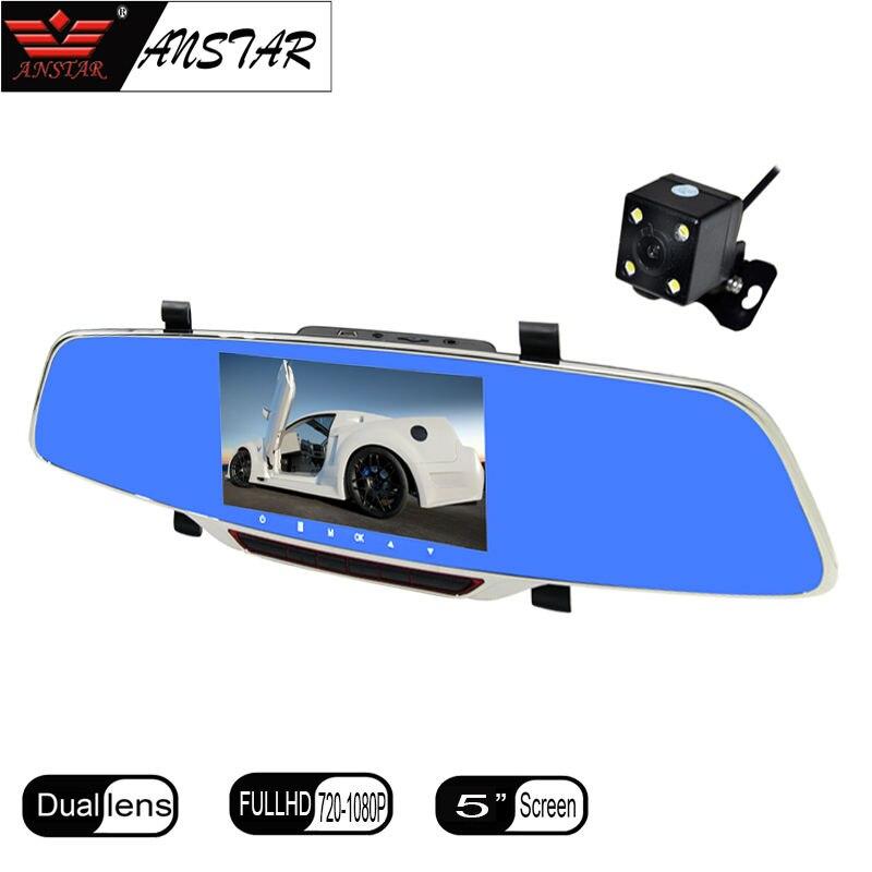 ANSTAR 5.0″ IPS CAR rearview mirror Camera video recorder Car Camera dvr full hd 1080p night vision rearview mirror camera H802