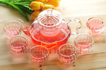 600 ML Pumpkin glass teapot+6 Pumpkin glass cups,suitable for Milk Oolong,Dianhong,Dahongpao(China)