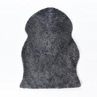 AOZUN Single Pelt Australian Curly Wool Sheepskin Rug Shaggy Carpet for Home Decor Fur Door Mat Colorful Sofa Cover Cozy Cushion