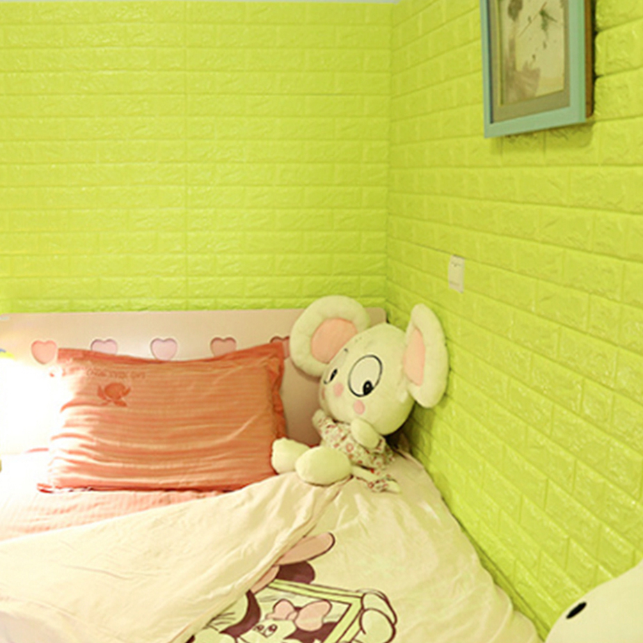 Modern 3D Brick Pattern Waterproof Self adhesive Wall Sticker Panels ...