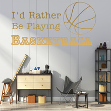 Classic Basketball Vinyl Kitchen Wall Stickers Wallpaper Liv