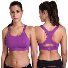 SYROKAN Women's Front Adjustable Lightly Padded Racerback High Impact Sports Bra