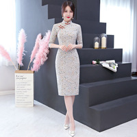 New Arrival Fashion Modern Cheongsam Slim Split Qipao Women Dress Chinese Traditional Dresses China Clothing Store Size S 3XL
