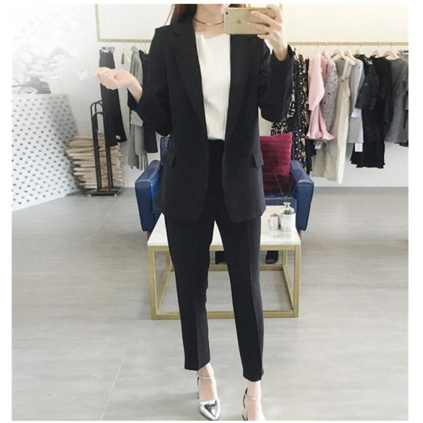 2017 New Pants Women Businessman Office Clothing Set Official Workwear Elegant Style Pants two piece set TB065