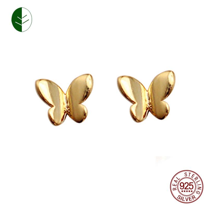 Girls Hypoallergenic Small Butterflys for Women 925 Solid Sterling Silver Tiny Butterfly Stud Earrings