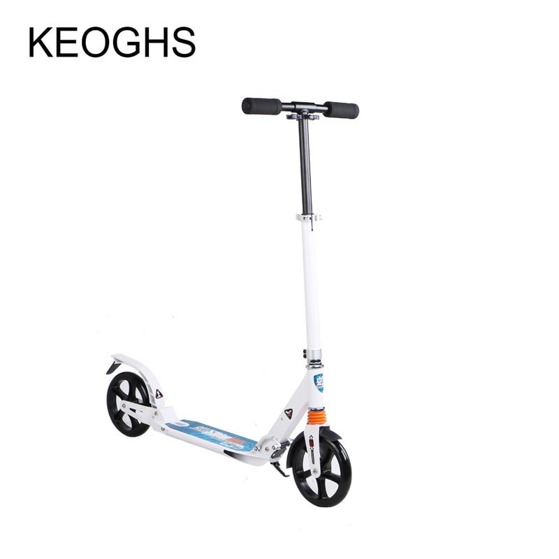 ̿̿̿(•̪ )Niños adultos scooter de bebé plegable PU 2 ruedas ...