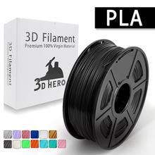 Новый материал без загрязнения PLA 3d принтер нить 1,75 мм 1 кг/2.2lbs с полным цветом и наивысшего качества для DIY 3d печати