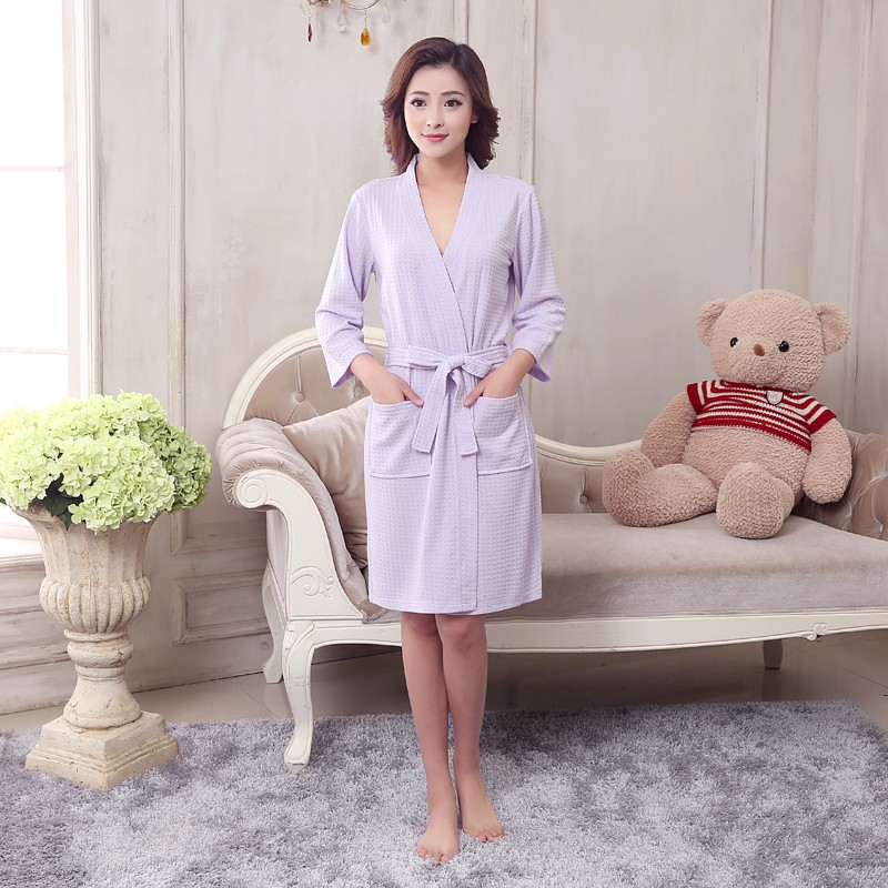 Unisex Mens Women's Long Cotton Sleep Lounge Robes RBS-C LYQ115 28