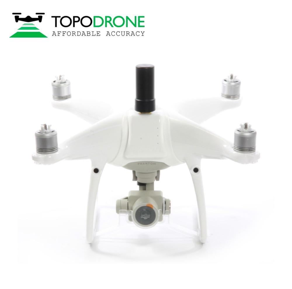 Topodrone DJI Phantom 4 RTK/PPK for precision aerial survey drones airplane MAX fly 30KM