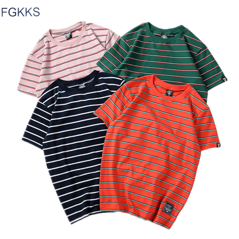 FGKKS Fashion Brand Men's   T     Shirt   Mens 2019 Summer Male   T  -  shirts   Short Sleeve Top Men Skateboard Male Tee   Shirts   Hip Hop Tops