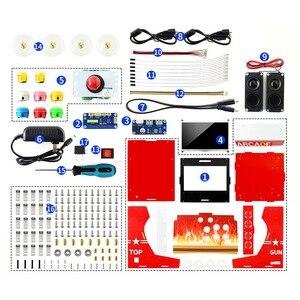 Image 2 - Arcade 101 1P набор аксессуаров аркадная машина строительный набор на основе Raspberry Pi 10,1 дюйма IPS экран + 17 аксессуаров