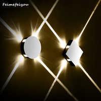 Feimefeiyou applique murale apparecchio rotondo quadrato lampada da parete camera da letto luce del corridoio scala hotel corridoio LED di illuminazione interna