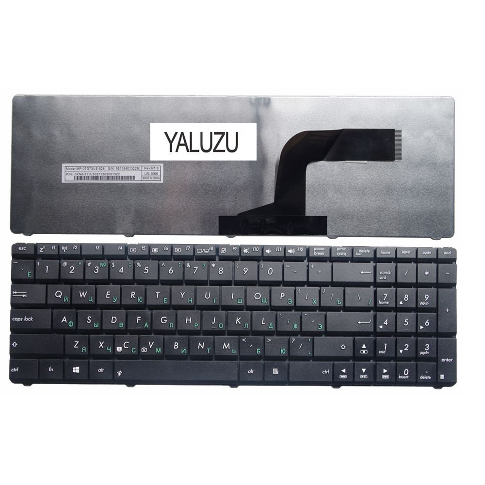 YALUZU Russian Laptop Keyboard FOR ASUS X55A X52F X52D X52DR X52DY X52J X52JB X52JR X55C X55U K73B NJ2 RU Black New