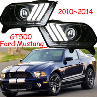 1set car styling for 2010 2011 2012 2013 2014year head lamp Ford Mustang headlight GT500 car accessories Mustang bumper lamp