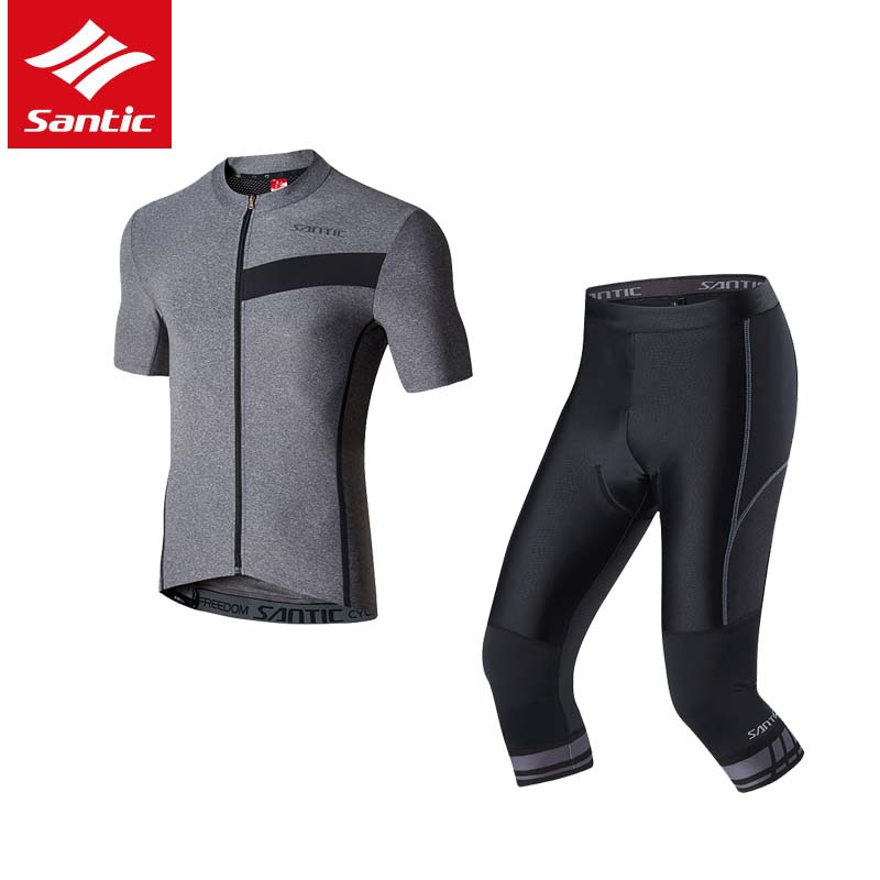 Santic Men Cycling Set MTB Road Bike Jersey Sets Summer Short Sleeve Breathable Bicycle Outdoor Sports Sets Ropa Ciclismo 2017 santic men short sleeve cycling jersey breathable summer cycling clothing mtb road downhill bicycle bike jersey anti sweat