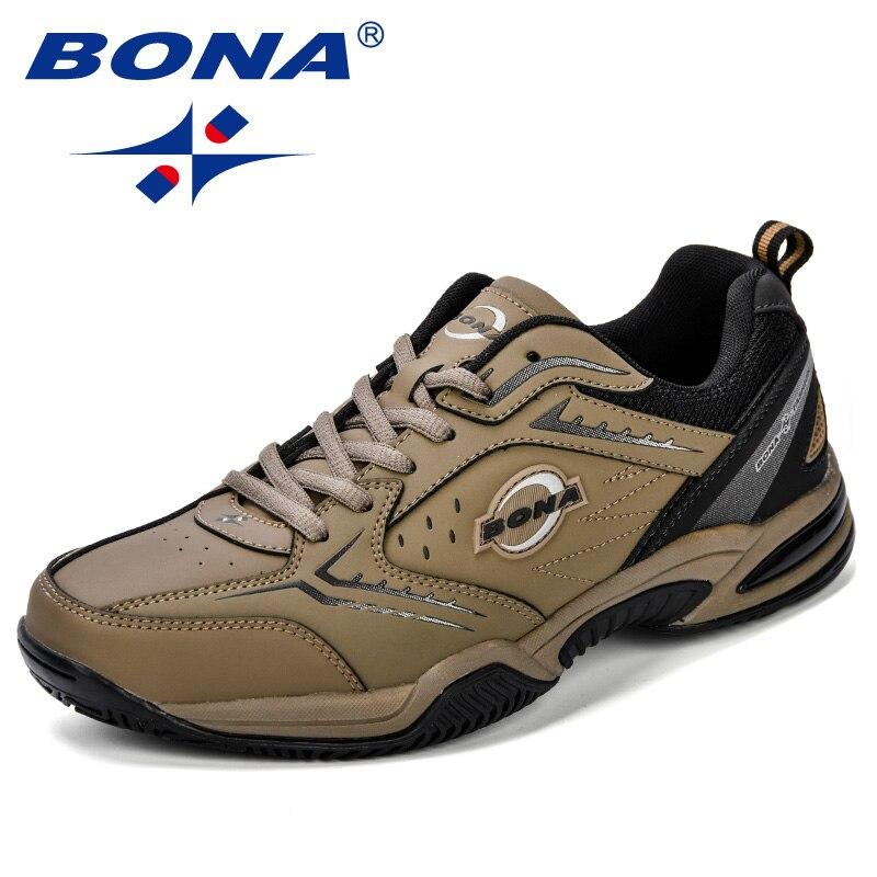 BONA nouveauté classiques Style hommes chaussures de Tennis en cuir hommes chaussures de sport en plein air Jogging baskets chaussures livraison gratuite rapide - 5