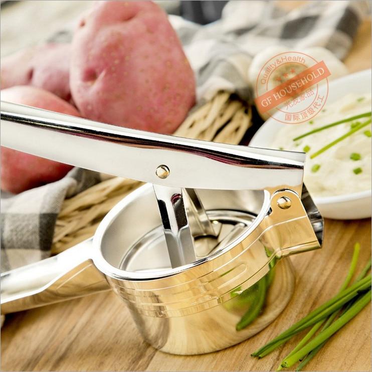 hoge kwaliteit RVS Aardappel Ricer met 2 verwisselbare schijven Fruit - Keuken, eetkamer en bar - Foto 2