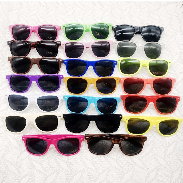 ad26c56fc5 48 pairs lot Custom Party Sunglasses Personalized Wholesale Neon Party  Sunglasses Lot Party Supplies Wedding Guest Favors