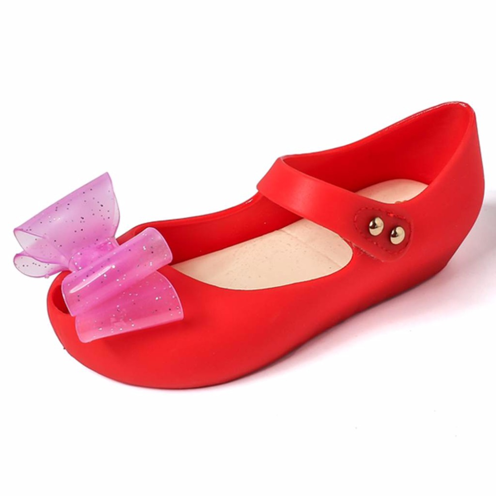 Mini Melissa Jelly Sandals Bow Tie Sandals Girl Fish Mouth Princess Sandals Comfortable Melissa Shoes
