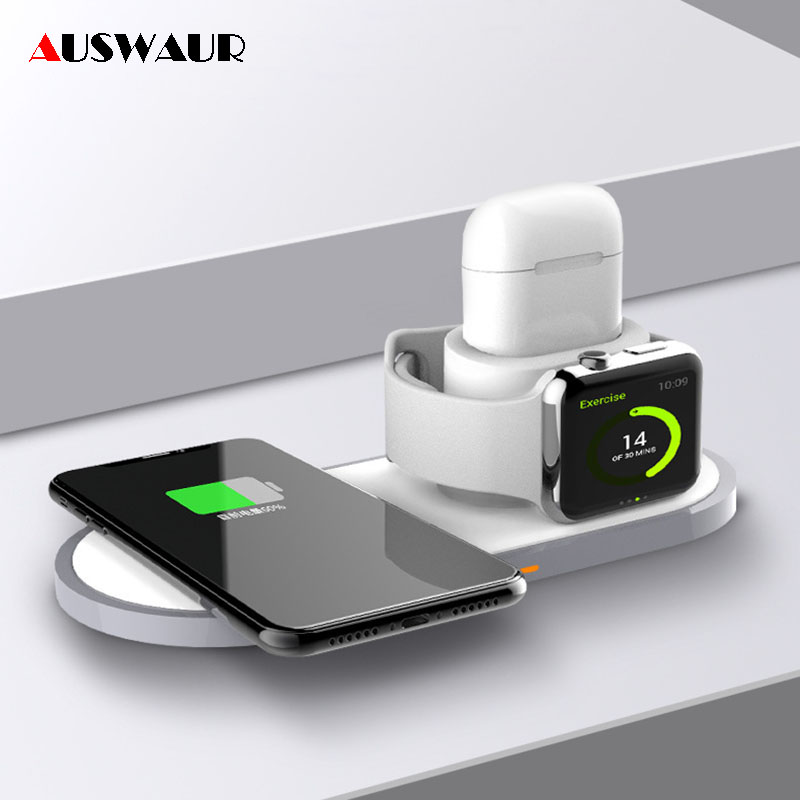 QI Wireless Charger for iPhone Airpods Apple Watch iWatch 1 2 3 4 Fast Quick Wireless ChargerQI Wireless Charger for iPhone Airpods Apple Watch iWatch 1 2 3 4 Fast Quick Wireless Charger
