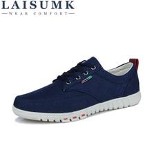 2019 LAISUMK Wholesale Hot Sale Spring New Fashion Suede Men Shoes Mens Canvas Casual Breathable Flat 39-44