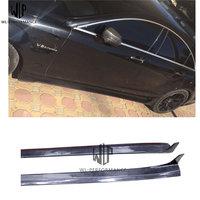 Saias Laterais Auto Fibra de Carbono CLS Kit Corpo de Carro Para Benz CLS Mercedea W218 2012 UP estilo Do Carro uso|Kit de carroceria| |  -