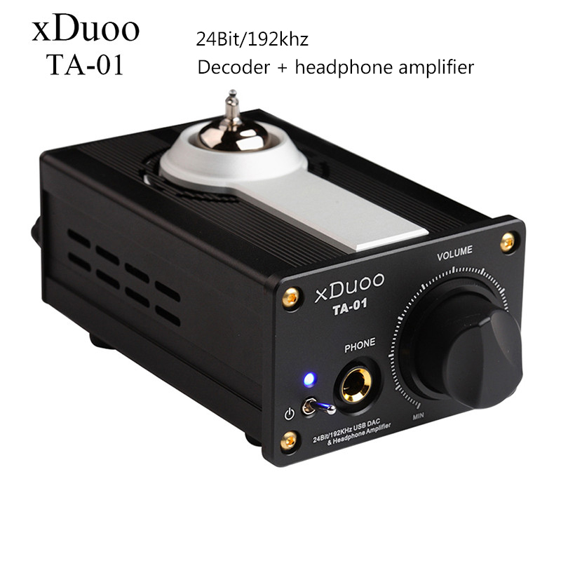 USB DAC XDUOO TA-01 Decoder 24Bit/192Khz HiFi Tube Headphone Amplifiers Professional Amp USB DC12V Adapter Amplifier Black 2017 2017 new edition zero 637u 24bit 192khz usb dac decoder headphone amplifier amp
