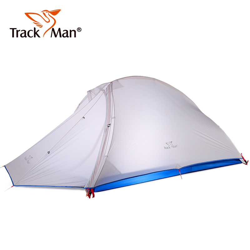 Outdoor Camping Tent 2 Person 20D silicone Double Layer Tent riding travel Ultralight Outdoor hiking Tents waterproof 1500g outdoor camping hiking automatic camping tent 4person double layer family tent sun shelter gazebo beach tent awning tourist tent