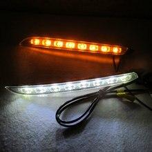 2 шт./компл. супер яркий светодиодный фары дневного света DRL лампа водонепроницаемый Солнечный свет для KIA RIO K2 2012 2013 2014