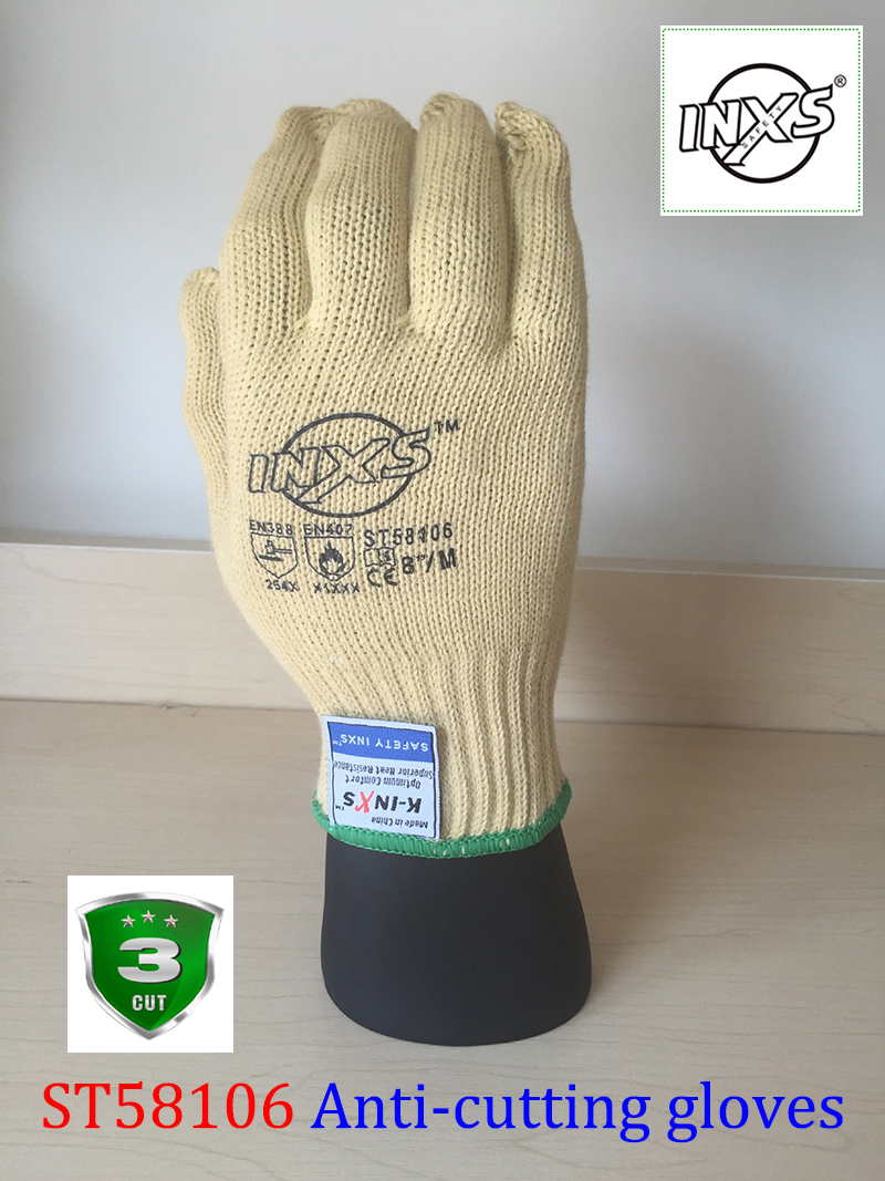 SAFETY-INXS ST58106 Flameproof anti - cutting gloves Practical type mechanic gloves Breathable flexible working gloves maritime safety