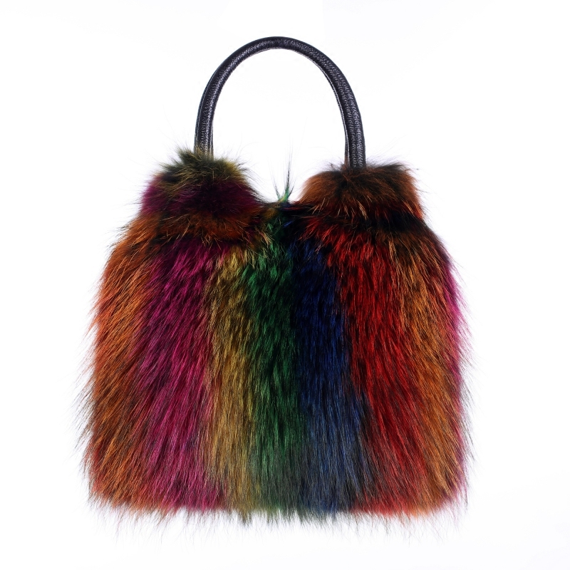 New Arrival genuine leather Real Fur Bags Made By Whole Pieces Fox Fur Women Luxury Bags Real Fur Handbag Fox Fur Bags new genuine whole mink fur beanies real fur hats women winter caps good quality christmas fur hats mink fur balls