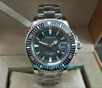 40mm PARNIS 21 jewels Automatic Self-Wind movement Auto Date Sapphire crystal luminous men's watches Mechanical watch pa42-p8