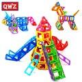 QWZ 164 unids Mini Diseñador Juego de Construcción Magnético Modelo de Construcción Magnética Ladrillos Bloques Juguetes Educativos Para Niños de Regalo de Navidad