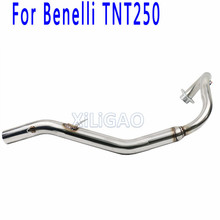 Benelli250 Motorcycle Full Exhaust System Pipe Escape Moto Front Link Mid Connecting Tube FOR BENELLI 250 TNT250 BN007