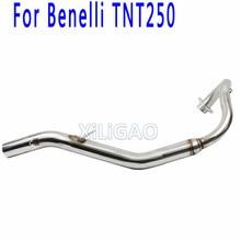 أنبوب نظام عادم كامل للدراجات النارية من beneli250 أنبوب توصيل منتصف الوصلة الأمامية لـ BENELLI 250 TNT250 BN007