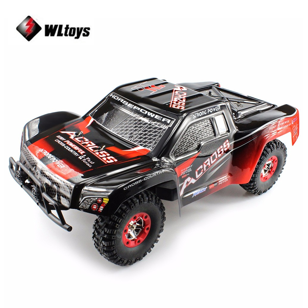 WLtoys RC Car 1 / 12 2.4GHz High Speed 4WD Remote Control Car Waterproof Climbing Car Off-Road Vehicle with LED light RC Toys 2017 new arrival a333 1 12 2wd 35km h high speed off road rc car with 390 brushed motor dirt bike toys 10 mins play time