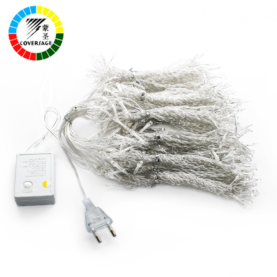 Coversage 3X1M Jul Garlands LED String Julen Net Lights Fairy Xmas - Ferie belysning - Foto 5