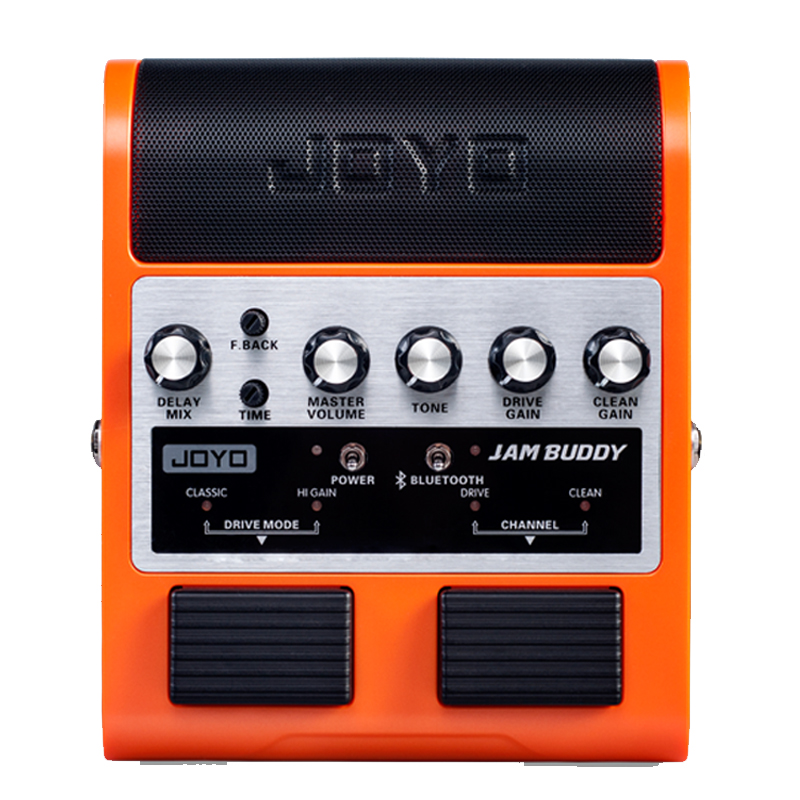 Joyo Jam buddy rechargeable bluetooth 4.0 Dual Channel 2*4W Pedal Style guitar amplifier with Delay Clean EffectsJoyo Jam buddy rechargeable bluetooth 4.0 Dual Channel 2*4W Pedal Style guitar amplifier with Delay Clean Effects